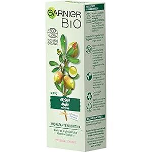 Garnier BIO Crema Hidratante con Aceite de Argán y Aloe Vera Ecológicos y Ácido Hialurónico – 50 ml