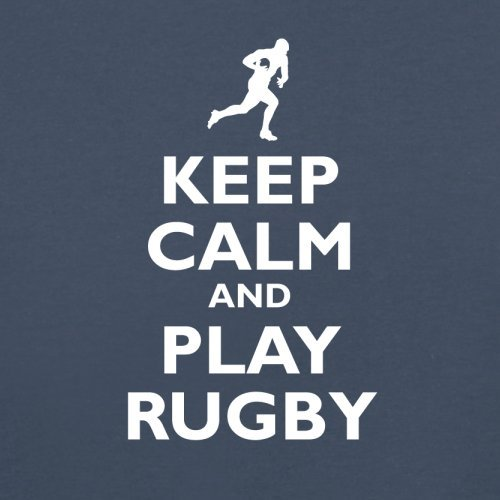 Keep Calm and Play Rugby - Herren T-Shirt - 13 Farben Navy