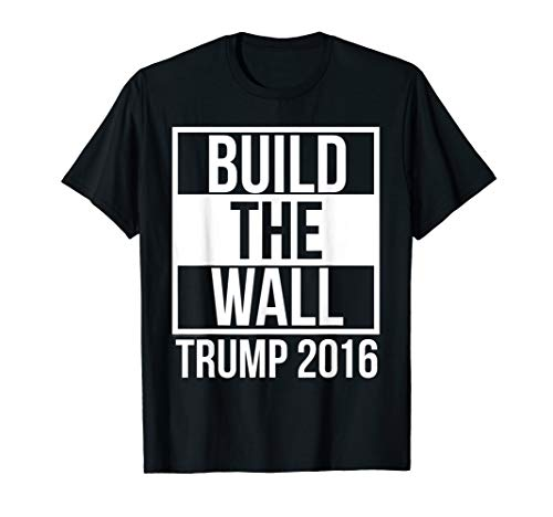 Nor-mars Men's Build The Wall Trump 2016 T-Shirt Graphic Square Men,Black,Male X-Large