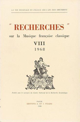 recherches-sur-la-musique-franaise-classique-volume-8-1968