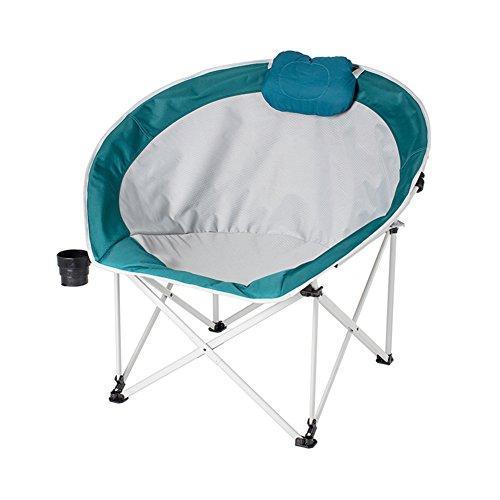 HM&DX Portable Chaises pliantes exterieures Chaises de camping ConPourtables Chaise de lune Avec Badminton sac Pour Jardin camping pêche randonnée picnic-vert