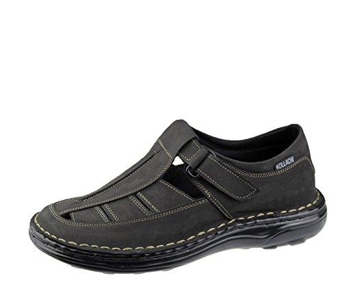 Homme Sandales décontracté de plage tendance décontracté Marche Flip Flop Pantoufle Chaussures en cuir Noir