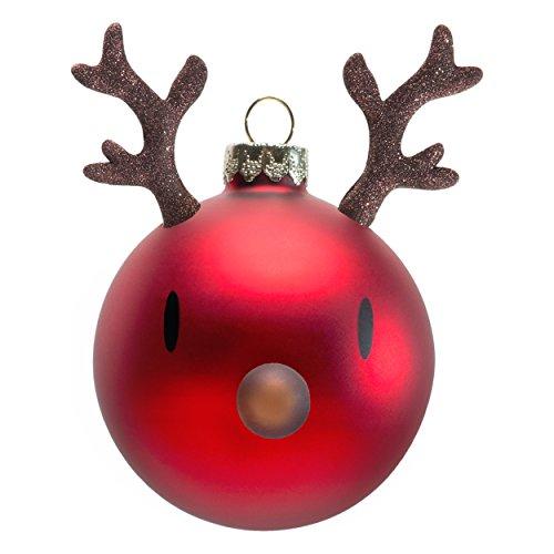 en Christmas Ornament, Weihnachtskugeln, Weihnachten, Rentier, Dekoration, Glas, 90012-40 (Rentier Weihnachten Ornamente)