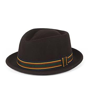 317ec8d7f77 Stylish Wool Pork Pie Hat Waterproof   Crushable