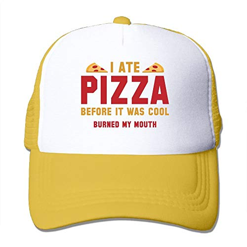 great prices online here look out for CHKWYN I Ate Pizza Before It was Cool Trucker Hat Unisex Adult Baseball  Mesh Cap Black