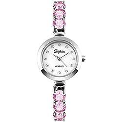 fashion ladies Bracelet Watch/Casual business watch/Waterproof quartz diamond watch-F
