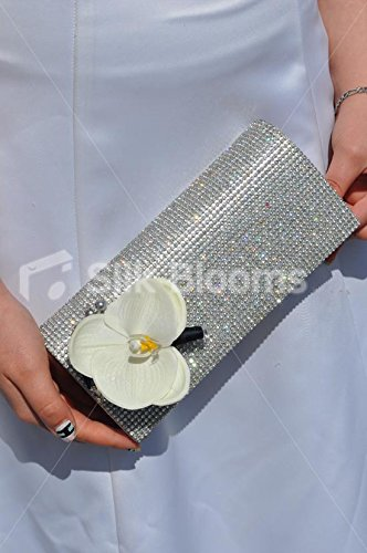Elegante artificiale bianco di orchidee, wedding bag corpetto - Bag Corpetto