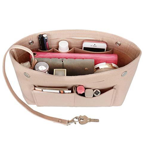 Taschenorganizer Filz, LV Taschen Organizer, Innentaschen für Handtaschen mit Griffen und Schlüsselkette, Handtaschen Organizer (Türschloss Für Taschen-tür)