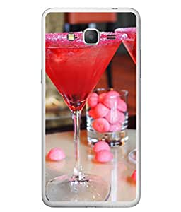 PrintVisa Designer Back Case Cover for Samsung Galaxy Grand Prime :: Samsung Galaxy Grand Prime Duos :: Samsung Galaxy Grand Prime G530F G530Fz G530Y G530H G530Fz/Ds (Party Cream Juice Sweet Strawberry Red Sugar )