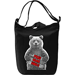 Free Bear Hugs Leinwand Tagestasche Canvas Day Bag| 100% Premium Cotton Canvas| DTG Printing|