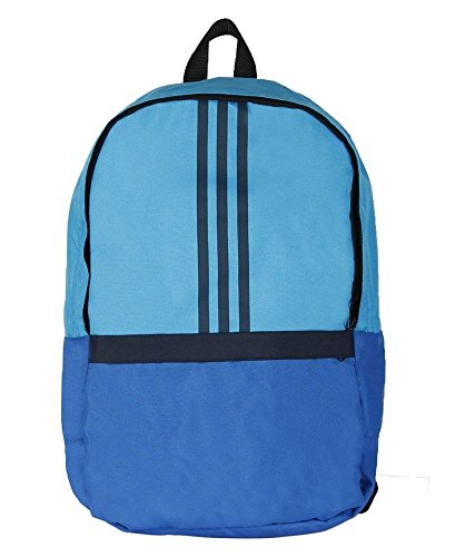 Adidas Versatile Blue Polyester Unisex Laptop Backpack With Adjustable Straps