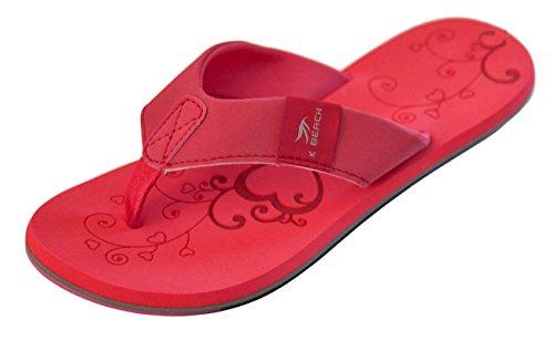 Bockstiegel KATRIN Damen Zehentrenner | Flip | 36-41 | Verschiedene Farben | Badelatschen | Strandschuhe | Zehenstegpantolette, Größe:40/UK 6.5, Farbe:Rot - Multi