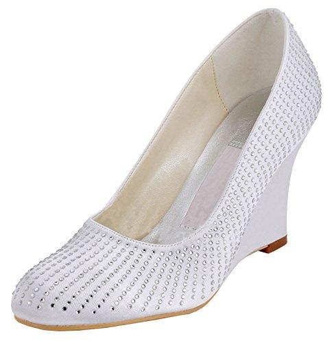 Kevin Fashion , Chaussures de mariage à la mode femme beige - Beige - Style2-Ivory