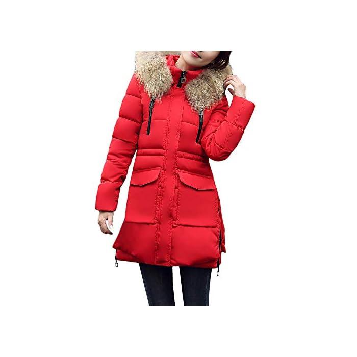 URSING Damen Winterjacke Frauen Winter Warme Lammy Jacke Mantel Outerwear Oberbekleidung Kapuzenmantel Slim Fit…