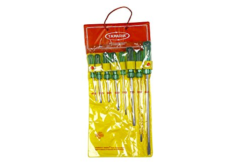 Taparia 1013 8-Pieces Hanging Pouch Screw Driver Kit