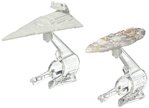 Hot Wheels-Pack Schiffe Star Wars Zerstörer und Mon Calamari Cruiser .