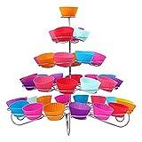 Echte Metallspirale mit 5Etagen, Cupcake-Ständer–Display Halterung für 41Mini Kuchen–für Partys und Anlässe, von Trimming Shop®
