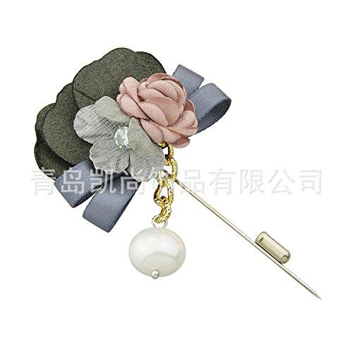 TIANLU Die moderne Stadt Qingdao Qingdao Blume Brosche Mode süsse Hand Stack und Brosche, Rosa (Stadt-stack)