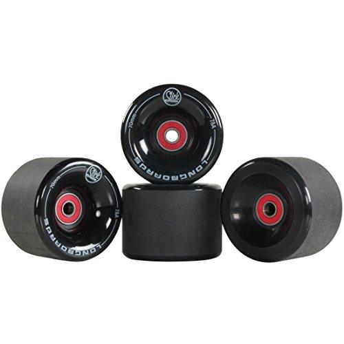4-x-unidades-longboard-freestyle-ruedas-70-mm-78-a-abec9-rodamientos-spacer-negro-negro