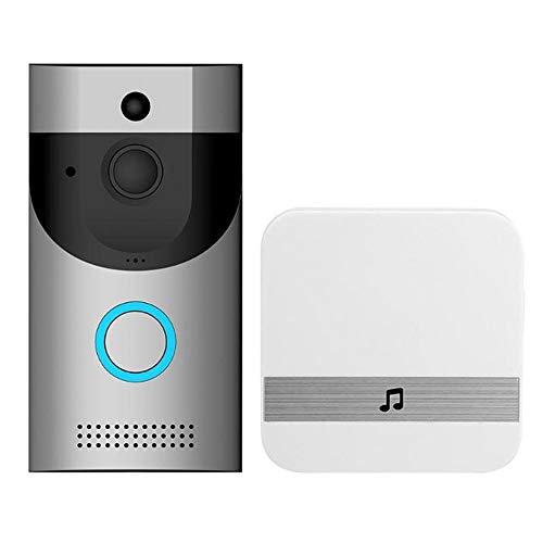 JSX 720P HD WiFi Video Türklingel Smart Home Security Kamera Zwei-Wege-Gespräch, PIR-Bewegungserkennung und Video-Nachtsicht-App Fernbedienung (Sonic-kabel Android)