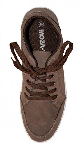 Moza-X Chaussures à lacets Hommes - Men Casual Low Shoe braun