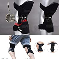 AimdonR Spring Knee Pads Breathable Brace Rebound Booster Compression Cuffs Knee Protection Powerful Support Silicone Padded Clamp Patella Stabiliser Protection