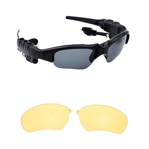 Busirde Smart-Stereo Bluetooth 4.1 Brille Headset Kopfhörer Drahtlose Bluetooth Sport Sonnenbrille Kopfhörer Brillen 3#