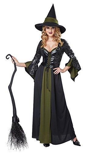 Imagen de disfraces de california de la mujer classic bruja vestido largo  negro