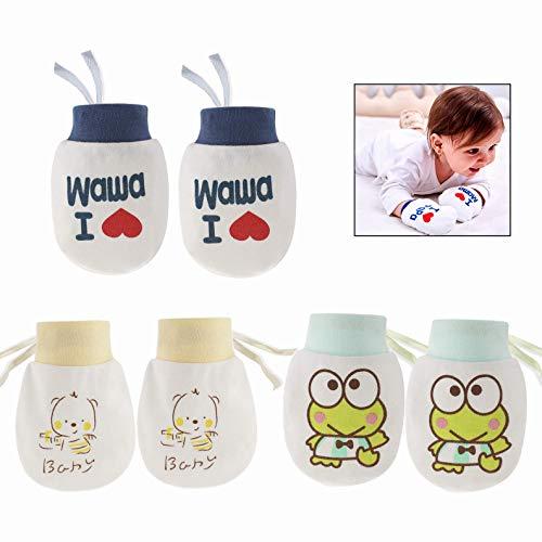 LHKJ 3 Paar Baby Handschuhe Soft Anti Scratch Fäustlinge,Baby Baumwollhandschuhe für Baby Care (Baby-jungen-accessoires)