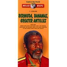 Caribbean Islands Map: Great Antilles, Bermuda, Bahamas Sheet 1