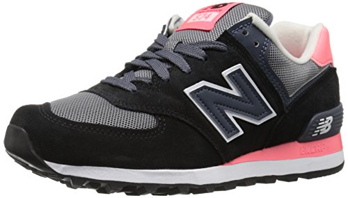 New Balance 574, Scarpe Running Donna, Multicolore (Black/Pink 018), 38 EU