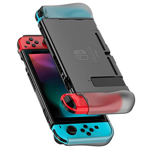 UGREEN Nintendo Switch Hülle Silikon Transparent Schutzhülle Dockable Crystal Case Passt Perfect auf Dock und Joy Con Crystal Case Cover Faceplate