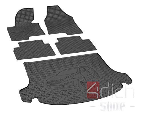 Passgenaue Kofferraumwanne und Gummifußmatten geeignet für KIA Sportage ab 2010 - EIN Satz