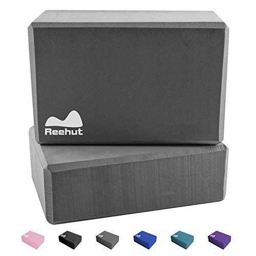REEHUT Yoga Block - YogaBlock Kork und Yoga Blöcke aus Eva-Schaum für Yoga oder Pilates Meditiation und Fitness Unterstützung und Balance für Anfänger und Fortgeschrittene -2 Blöcke