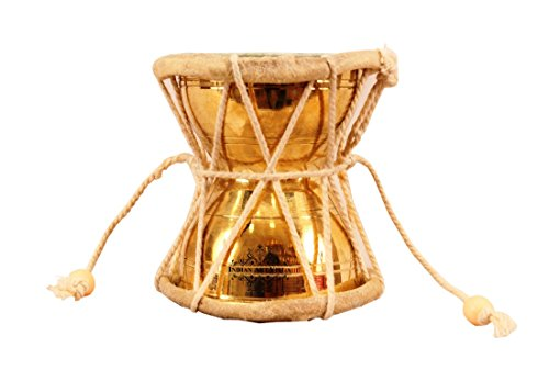 IndianArtVilla Brass Lord Shiva Musical Instrument Damru Pellet,Poojan  Purpose, Home Décor, 3
