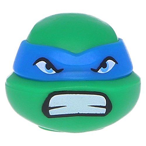 (LEGO® Figuren, Kopf Modifiziert Ninja Turtle mit Blauer Maske und Grün)