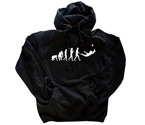 Shirtzshop Standard Edition Torwart Evolution Kapuzensweatshirt Hoody Schwarz XXXL