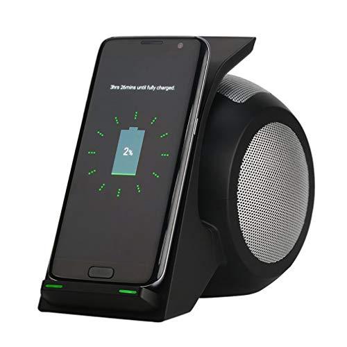 JIEGEGE 3 In 1 Bluetooth-Lautsprecher, Kabelloses Ladegerät Mit Bluetooth-Lautsprechern, HiFi-Musik-Stereoanlage, Tragbares, Schnelles Kabelloses Ladegerät Für iPhone Und Samsung