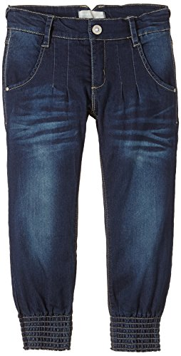 NAME IT Mädchen Jeanshose LOUISE KIDS DNM BAG/XR PANT NOOS S, Einfarbig, Gr. 134, Blau (Medium Blue Denim)