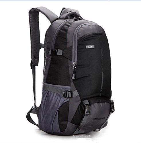 BUSL Outdoor-Bergsteigen Tasche Umhängetaschen für Männer und Frauen wasserdicht atmungsaktiv lässig Rucksack Black