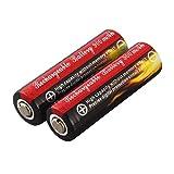 sdfghzsedfgsdfg 2 Stück Red & Black AA 3,7V 14500 900mAh Lithium-Ionen-LED Batterie-sicherer Umweltfreundlich Für Taschenlampe schwarz
