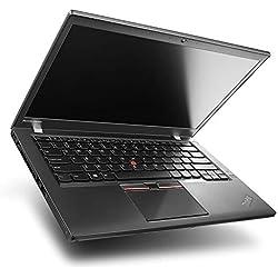 Lenovo ThinkPad T450 - PC Portable - 14in Full-HD - Noir (Intel Core i7-5600U / 2.60 GHz, 8 Go de RAM, Disque 240 Go SSD, Webcam, Windows 10 Professionnel) (Reconditionné)