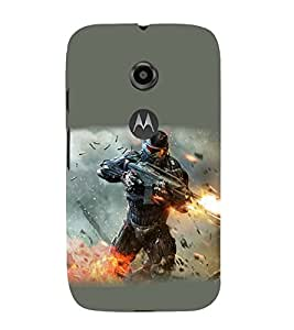 printtech Premium Best Quality Multi color Designer Printed back cover Back Case Cover for Motorola Moto E2 / Motorola Moto E (2nd Gen)