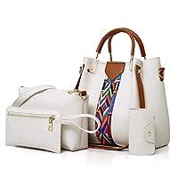 حقيبة للنساء-بيج وابيض - حقائب الكتف
