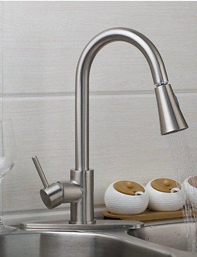 MEICHEN-Rubinetto Rubinetto di cucina Torneira Cozinha Estrarre verso il basso nichel spazzolato orientabile Deck 360 montati rubinetti di lavandino