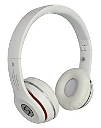 Signature Samsung VMB-4 Model Stereo Bass Bluetooth Headphone And Mp3 Card Support For Iphone/Smartphones (MICROMINI White )