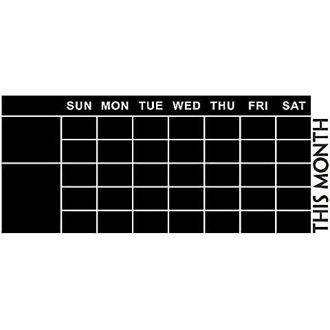 Pizarra adesiva, WER Pizarra papel removible impermeable para planificador mensual calendario y pizarra MEMO pegatina de