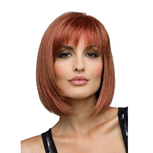 Frauen Kurze Perücken Flauschige BOBO Kurze Braune Perücken Mit Kopfbedeckung