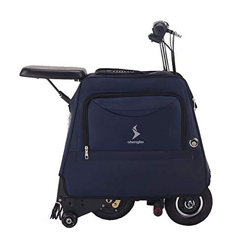 Y&XF Faltender elektrischer Roller für die Erwachsenen Minielektromänner und -Frauen, die kleinen Fahrrad Gepäck Taschen Roller mit Aufbewahrungstasche Falten,C,10~15KM -
