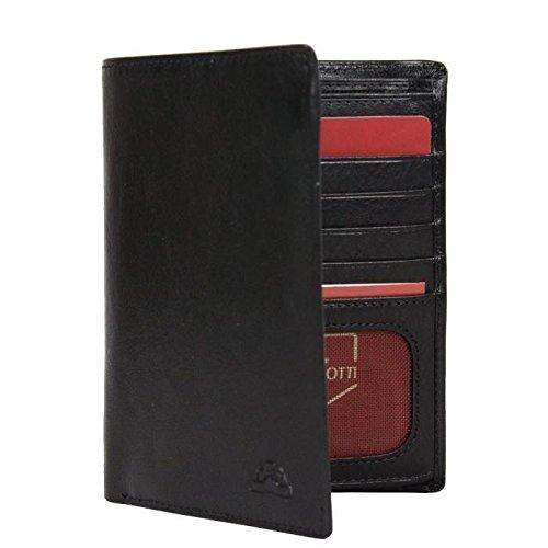 Portefeuille porte monnaie et porte cartes cuir vintage Tony Perotti NW1168 - Noir